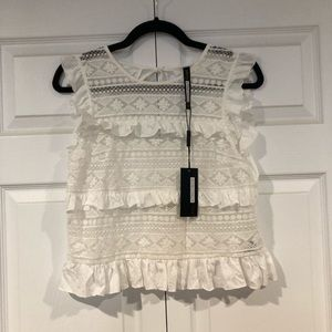 Anthropologie Tracy Reese lace ruffle tank nwt